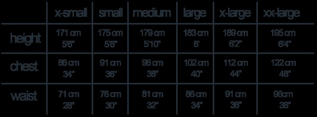 Mens Sizes