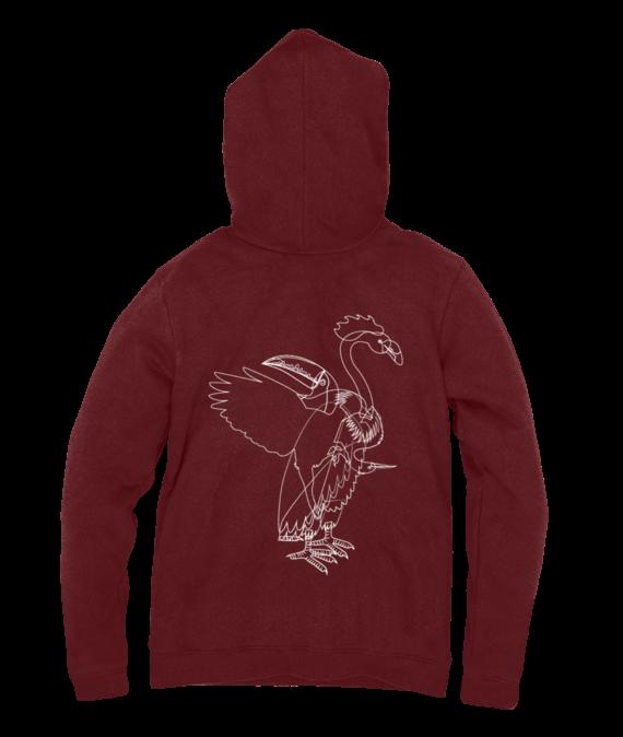 aves hoodie red back