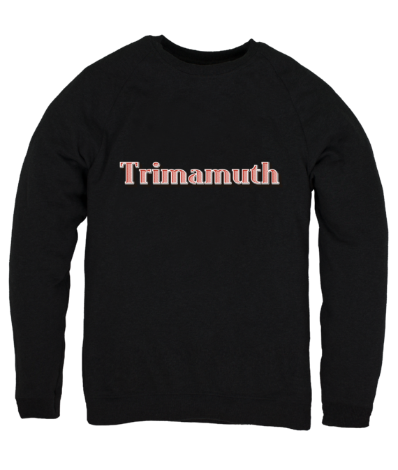 mens jumper trimamuth text black
