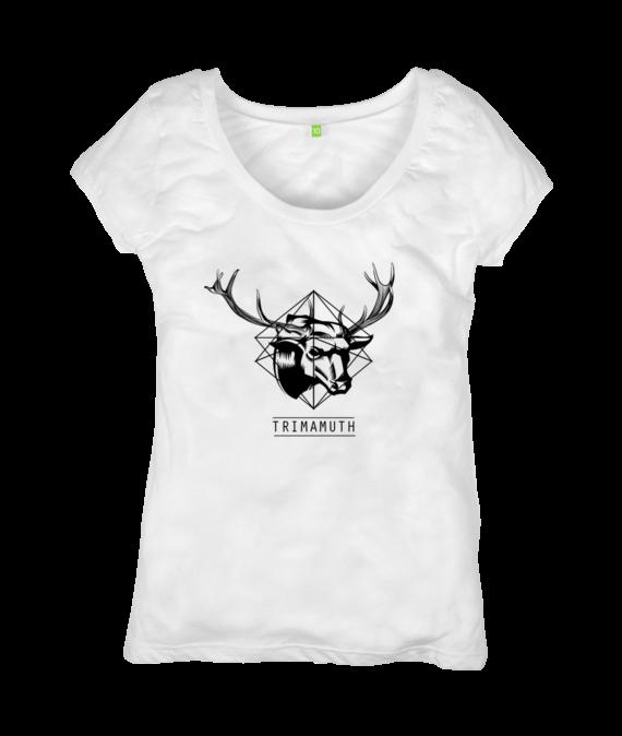 womens tshirt white deerbull