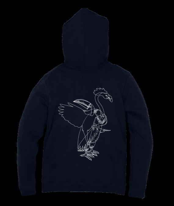 aves hoodie navy blue back