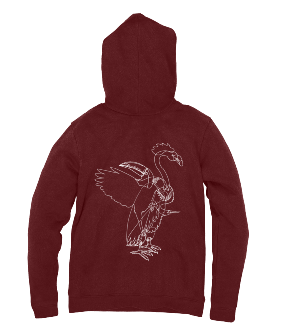 aves hoodie red back