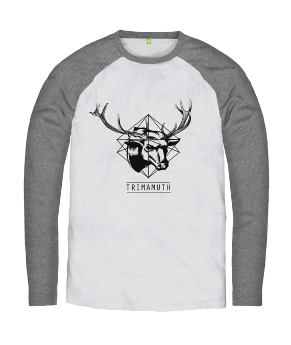 deerbull gray long sleeve tshirt