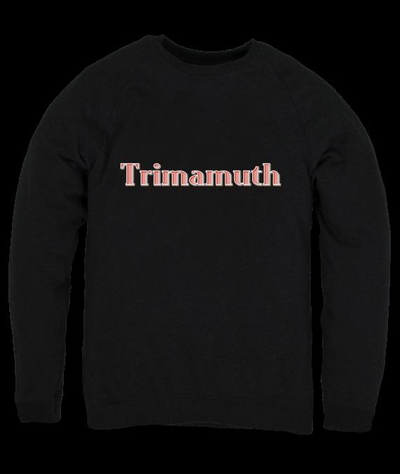 mens jumper trimamuth text black