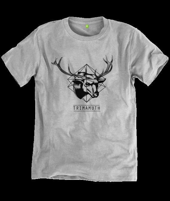 mens tshirt grey deerbull