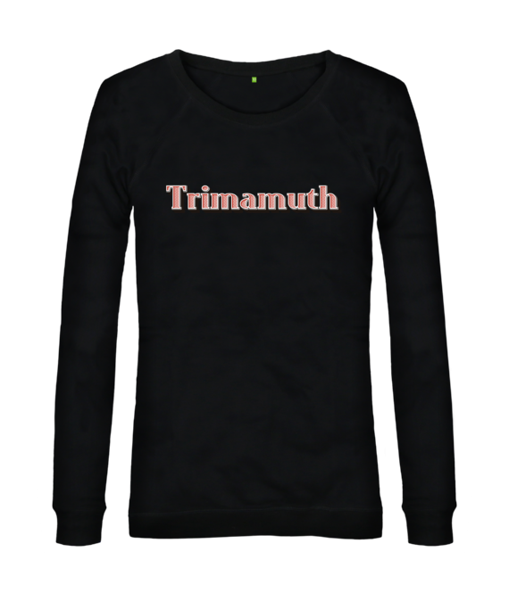 womens jumper trimamuth text black