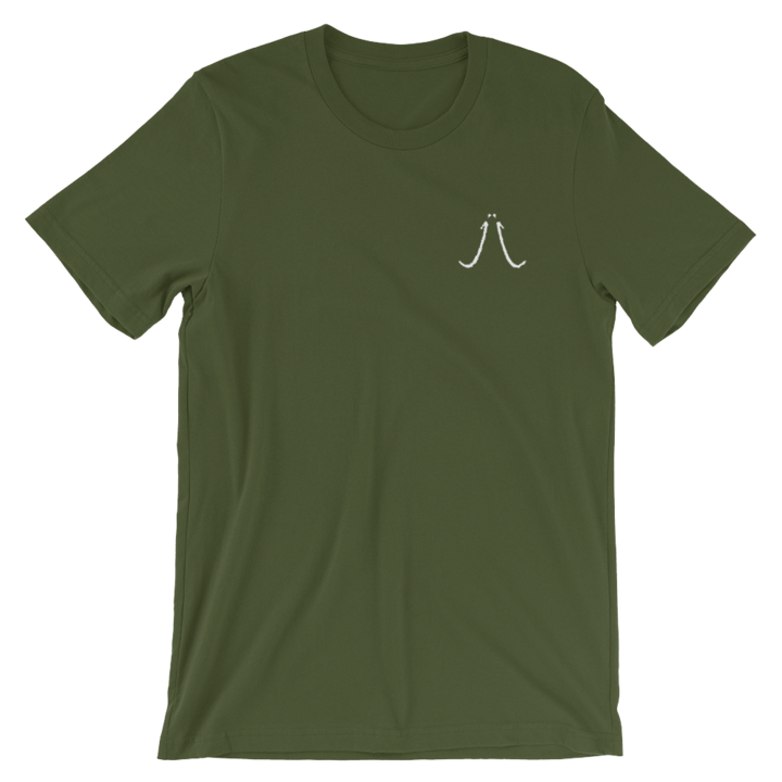 Military Green Embroidered Trimamuth Logo Unisex T-Shirt